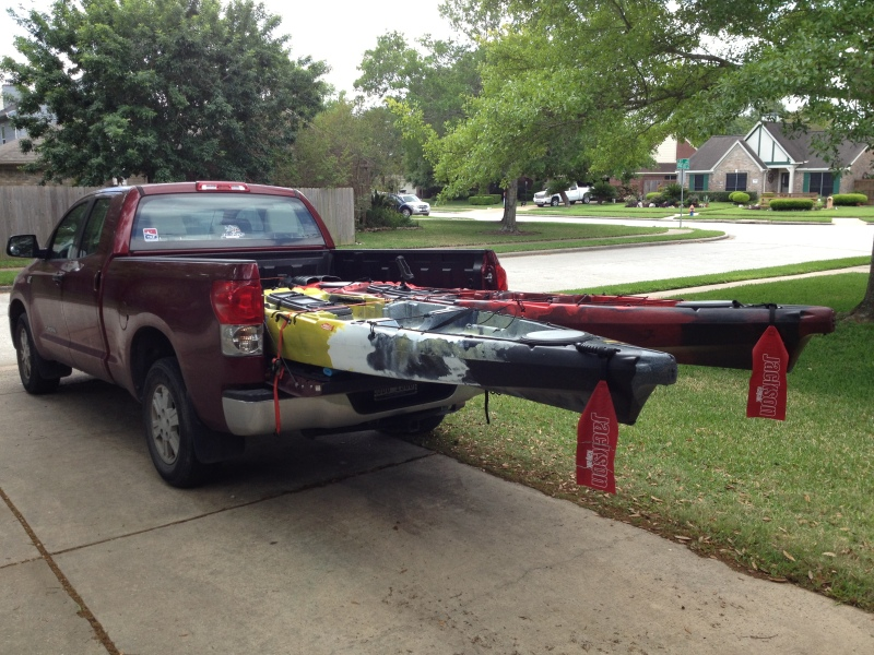 Kayaks In Truck Tail Tail Signs